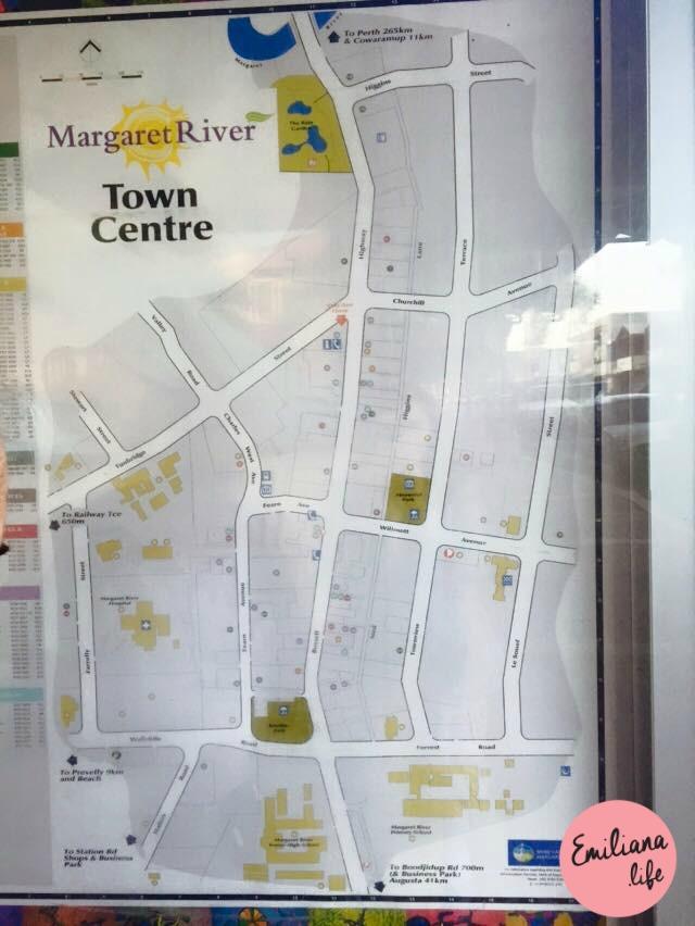 340 foto mapa town centre margaret river