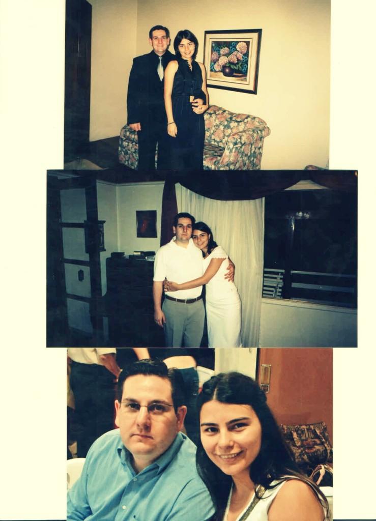 3 fotos mila e du vestido preto e branco