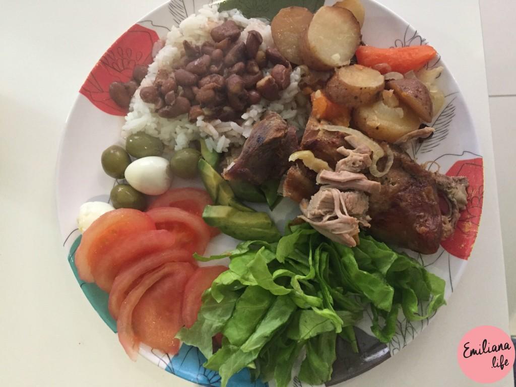 8 arroz feijao carne porco
