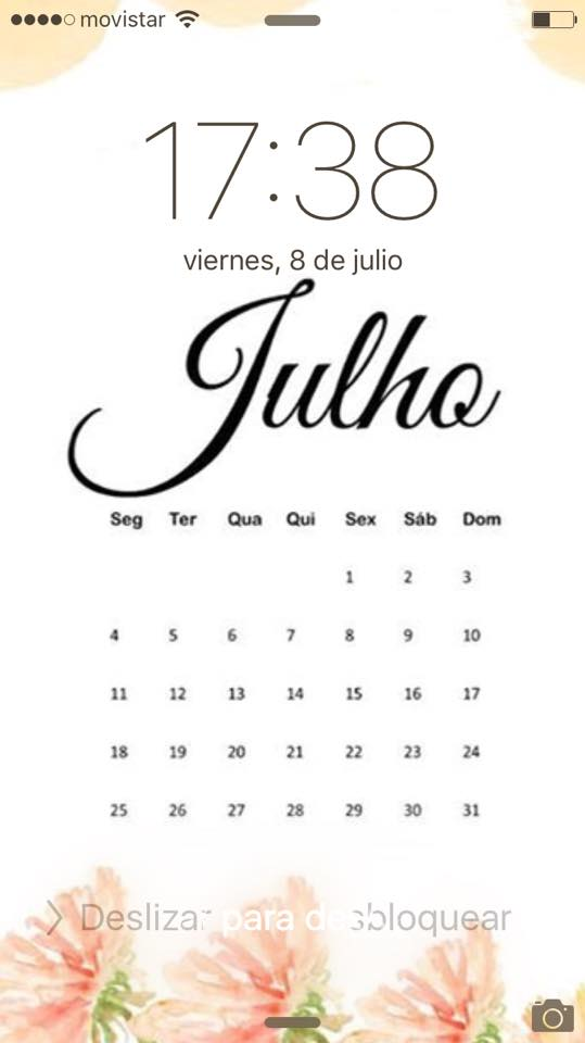 923 calendar july iphone