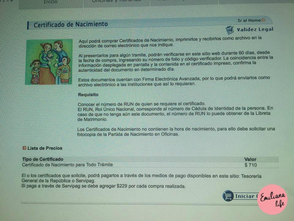 105 pag web certificado nacimiento